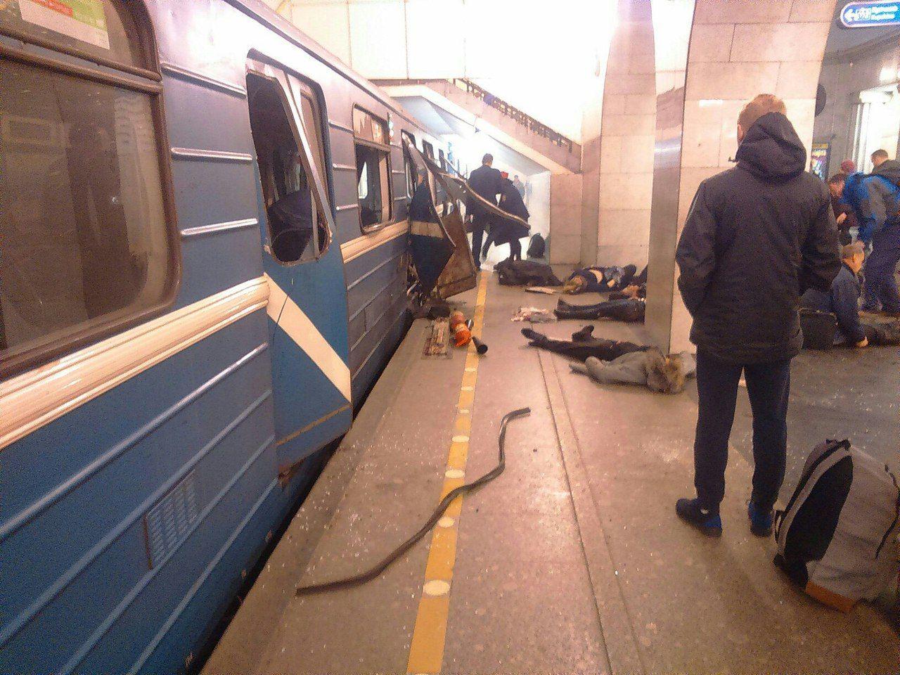 Последствия теракта в метро Питера, иллюстрация