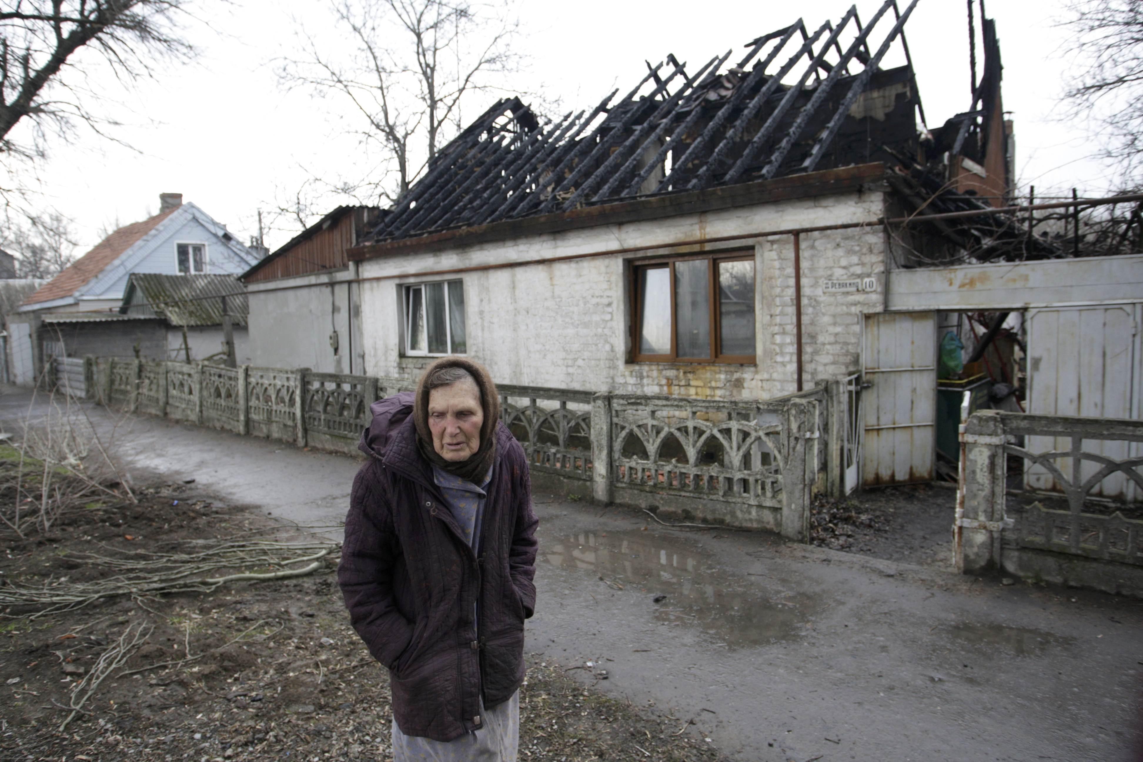 Оккупированный боевиками Донецк, иллюстрация.