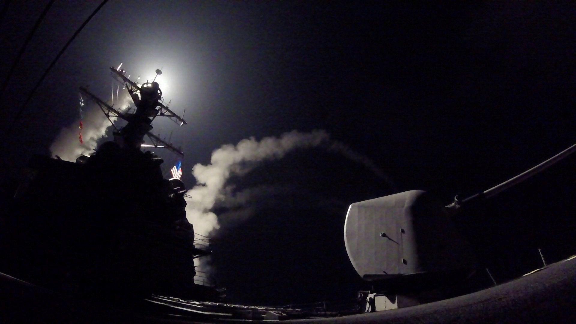 Удар по Сирии с эсминца США, иллюстрация