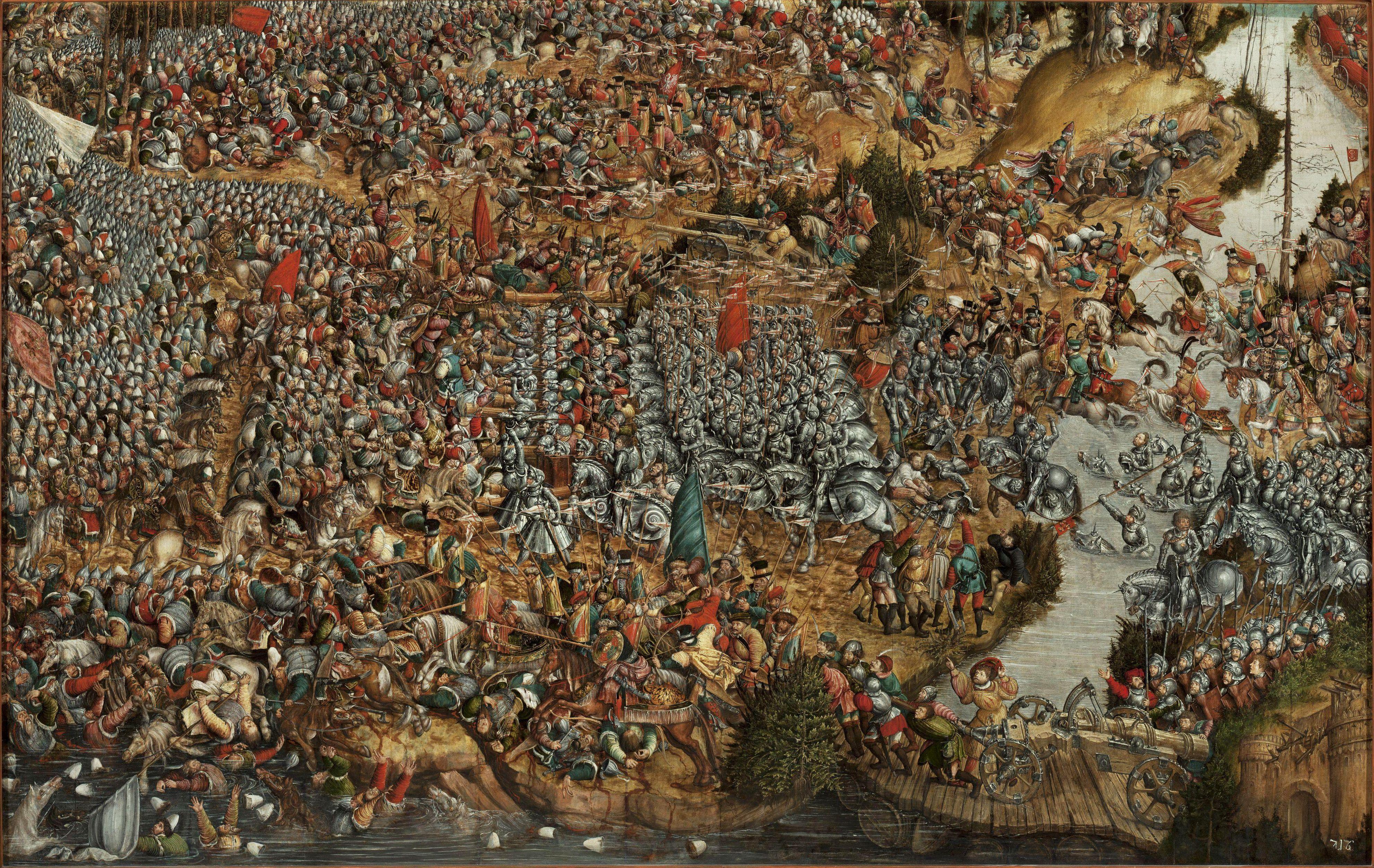 Битва під Оршею. Картина XVI ст. Автор невідомий