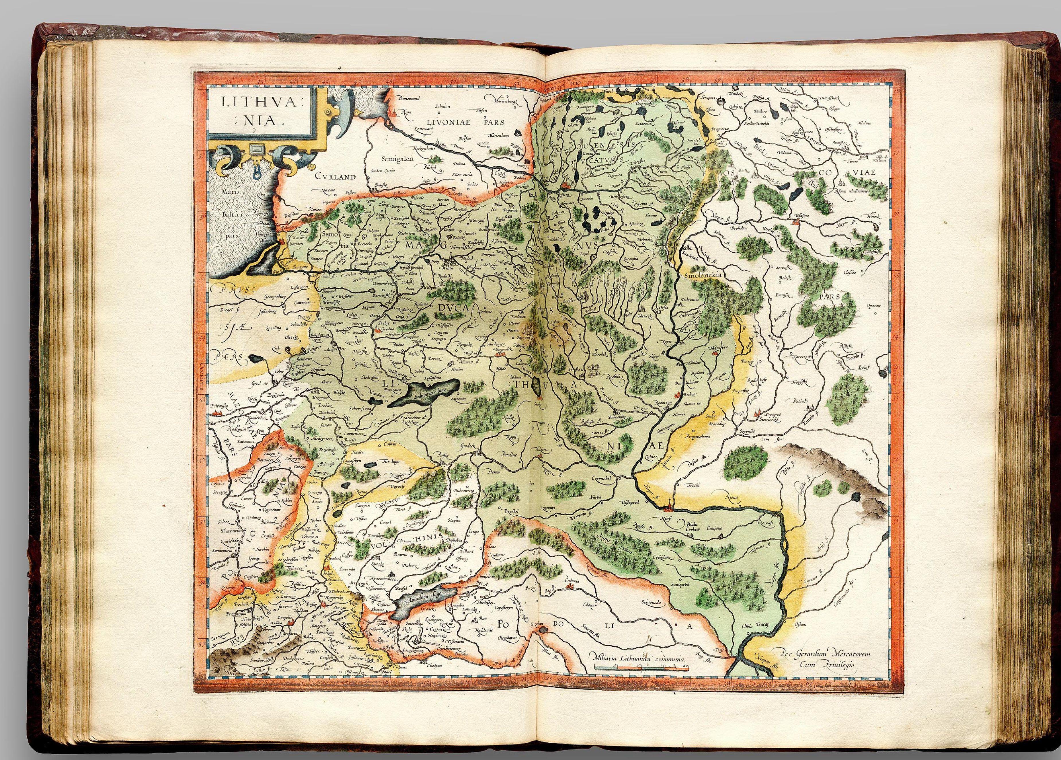 Атлас Меркатора. Карта Великого князівства Литовского