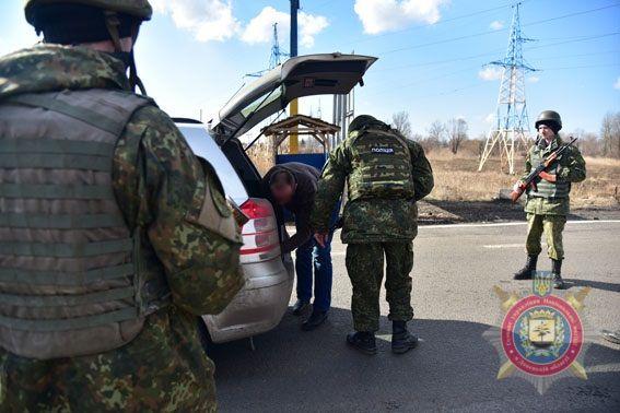 Блокпост силовиков на Донбассе, иллюстрация.