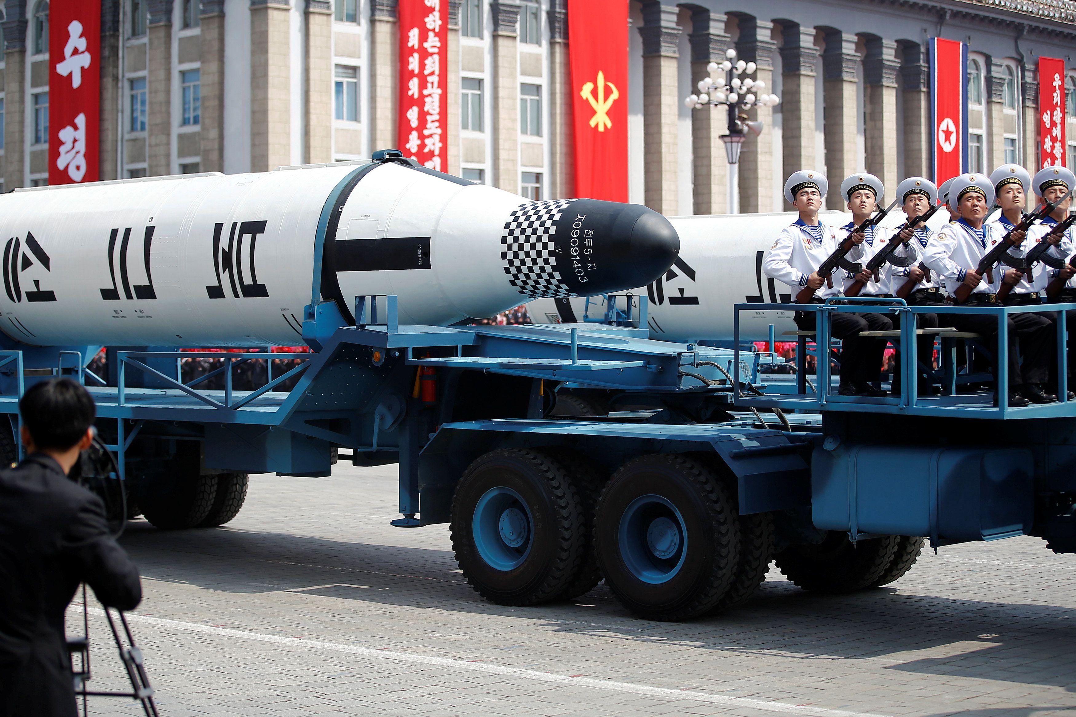 Парад в Северной Корее.