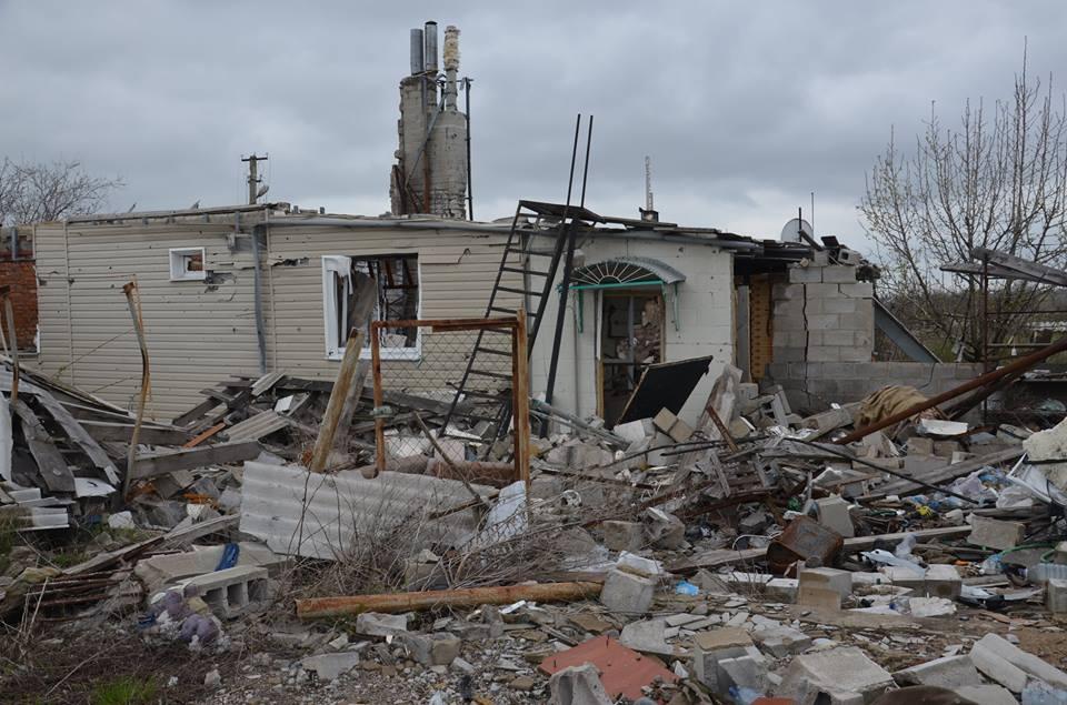 Разрушения в Широкино, иллюстрация