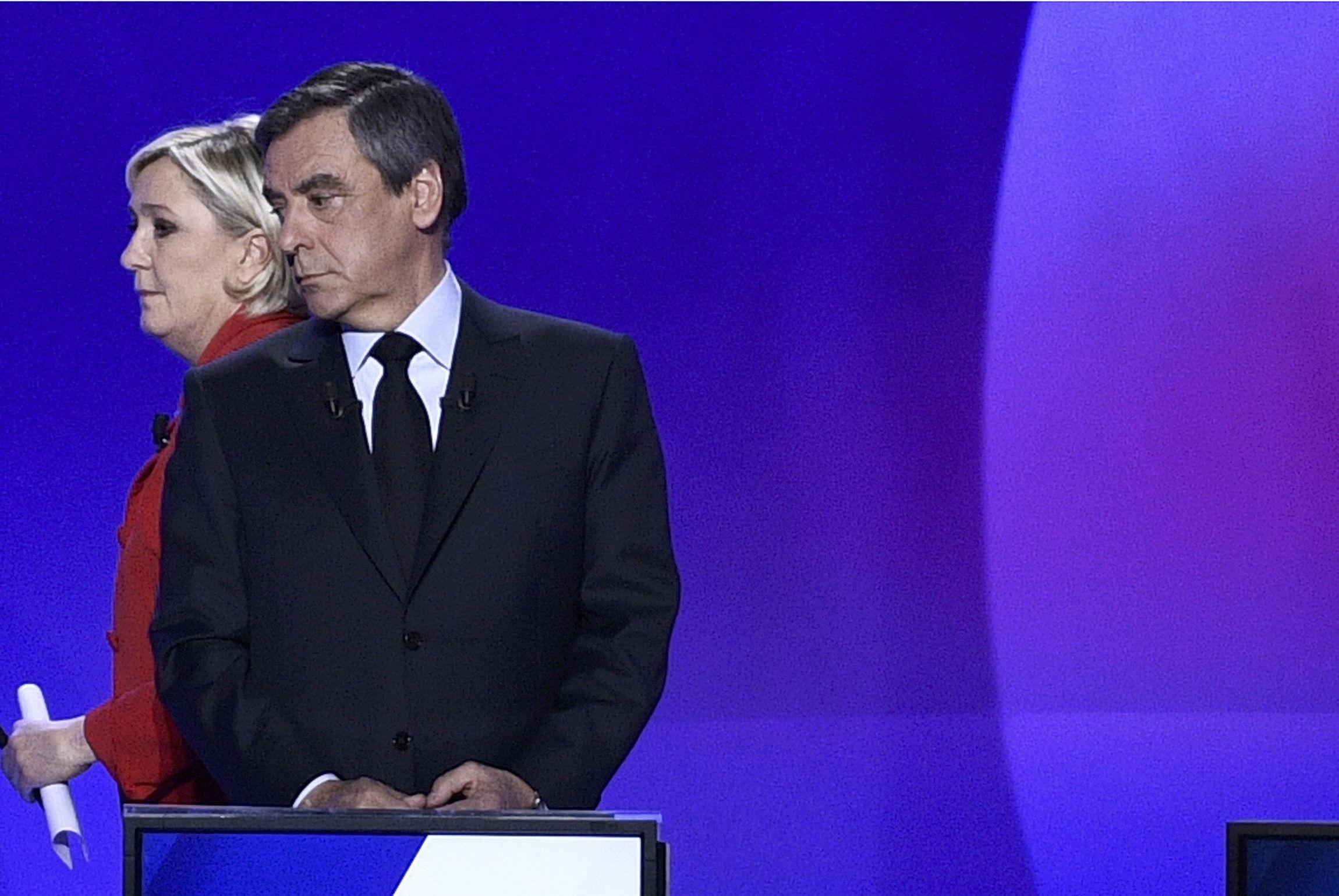 Марін Ле Пен і Франсуа Фійон