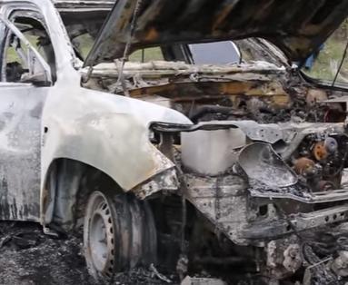 Взорванное авто наблюдателей ОБСЕ