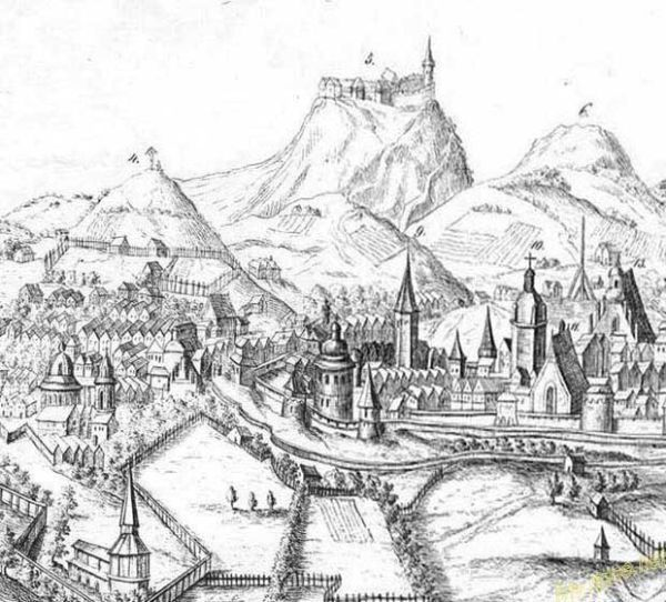 Рисунок древнього Львова