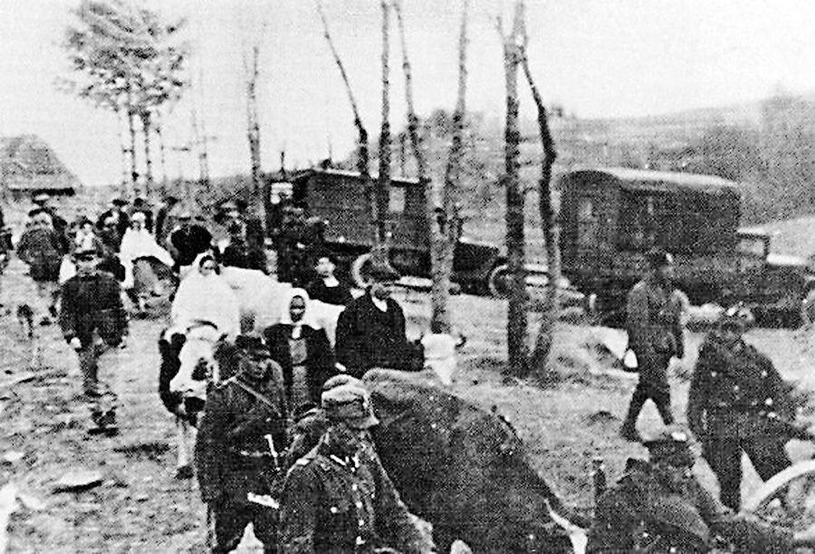 Выселение украинцев происходило под дулами автоматов