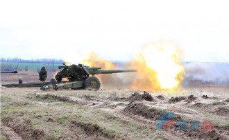 У артиллеристов ЛНР учения