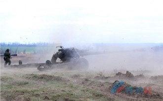Артиллерия боевиков ЛНР