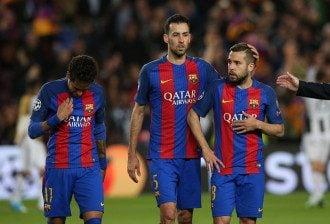 """Игроки """"Барселоны"""" после сухой ничьей с """"Ювентусом"""""""