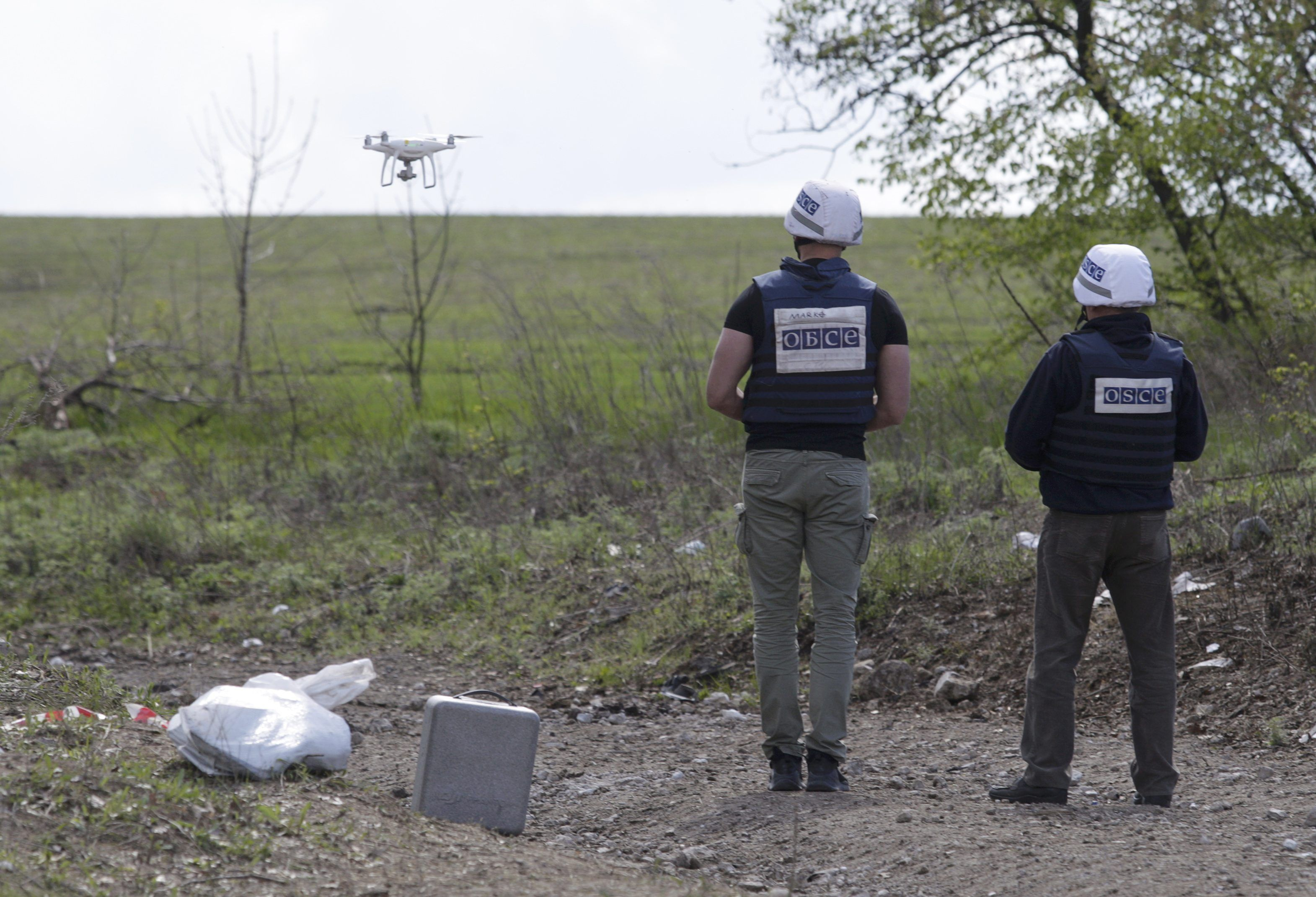 Миссия ОБСЕ на Донбассе, иллюстрация.