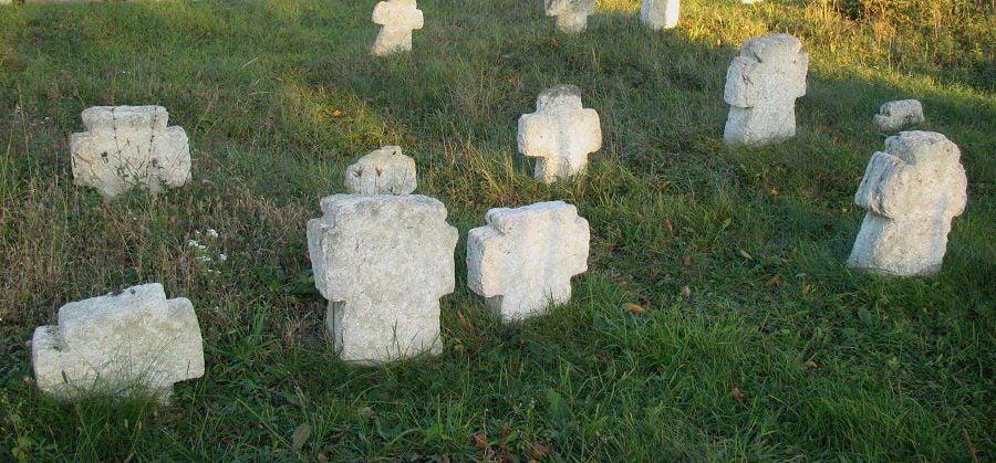 Хрести на козацьких могилах