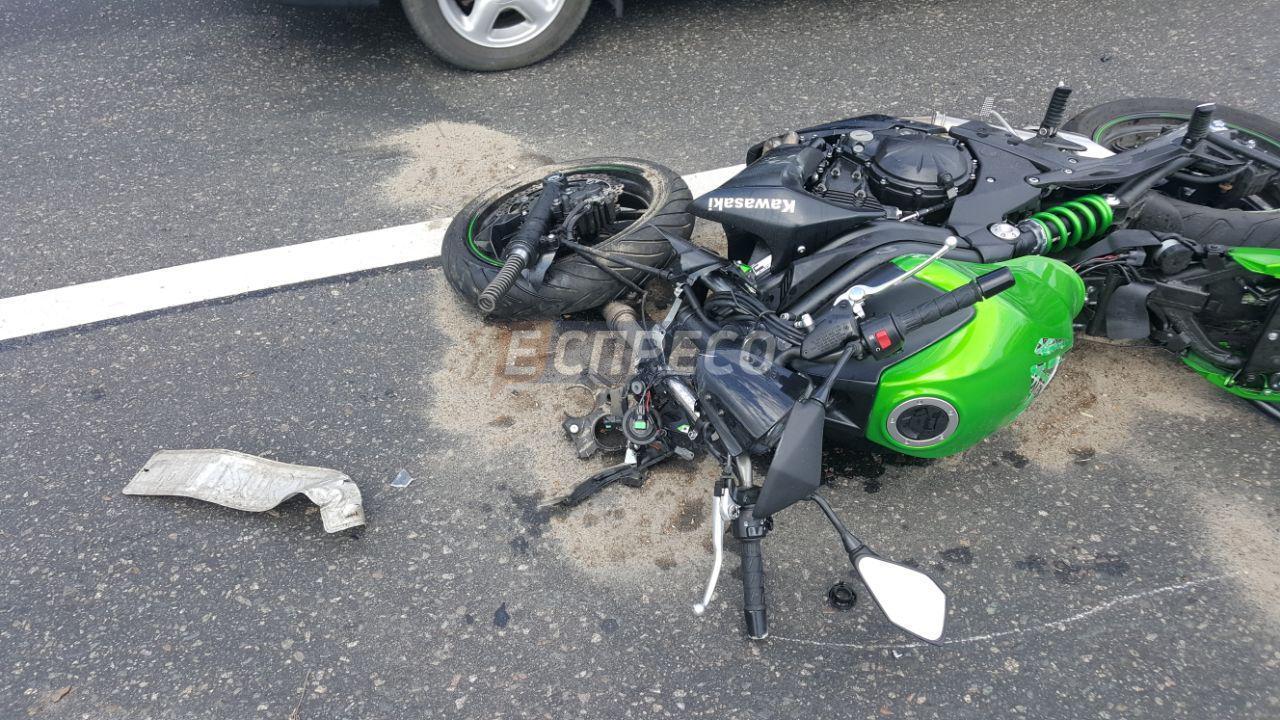 Сбитый мотоцикл, иллюстрация