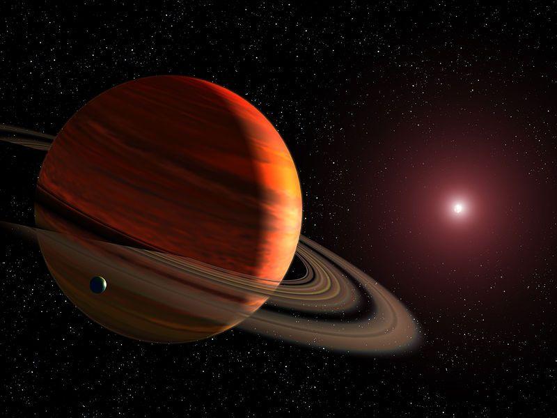 Газовая планета на 40% больше Юпитера.