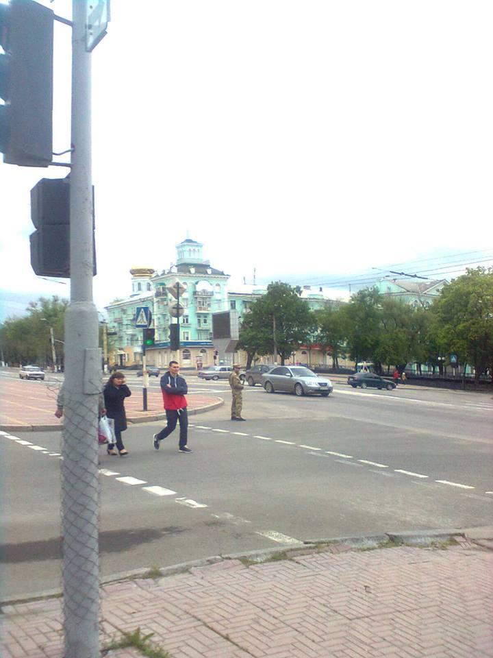 Полицаи на улицах Луганска