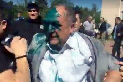 Пророссийского депутата облили зеленкой