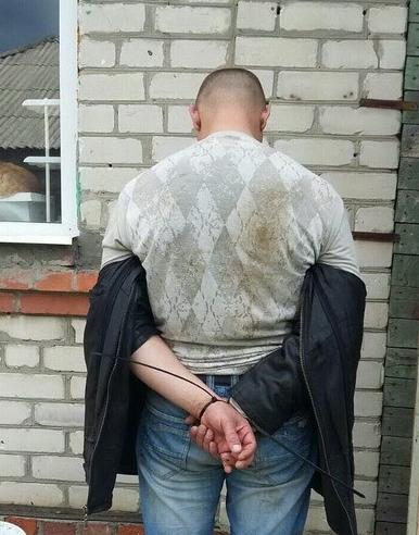 Задержанный злоумышленник