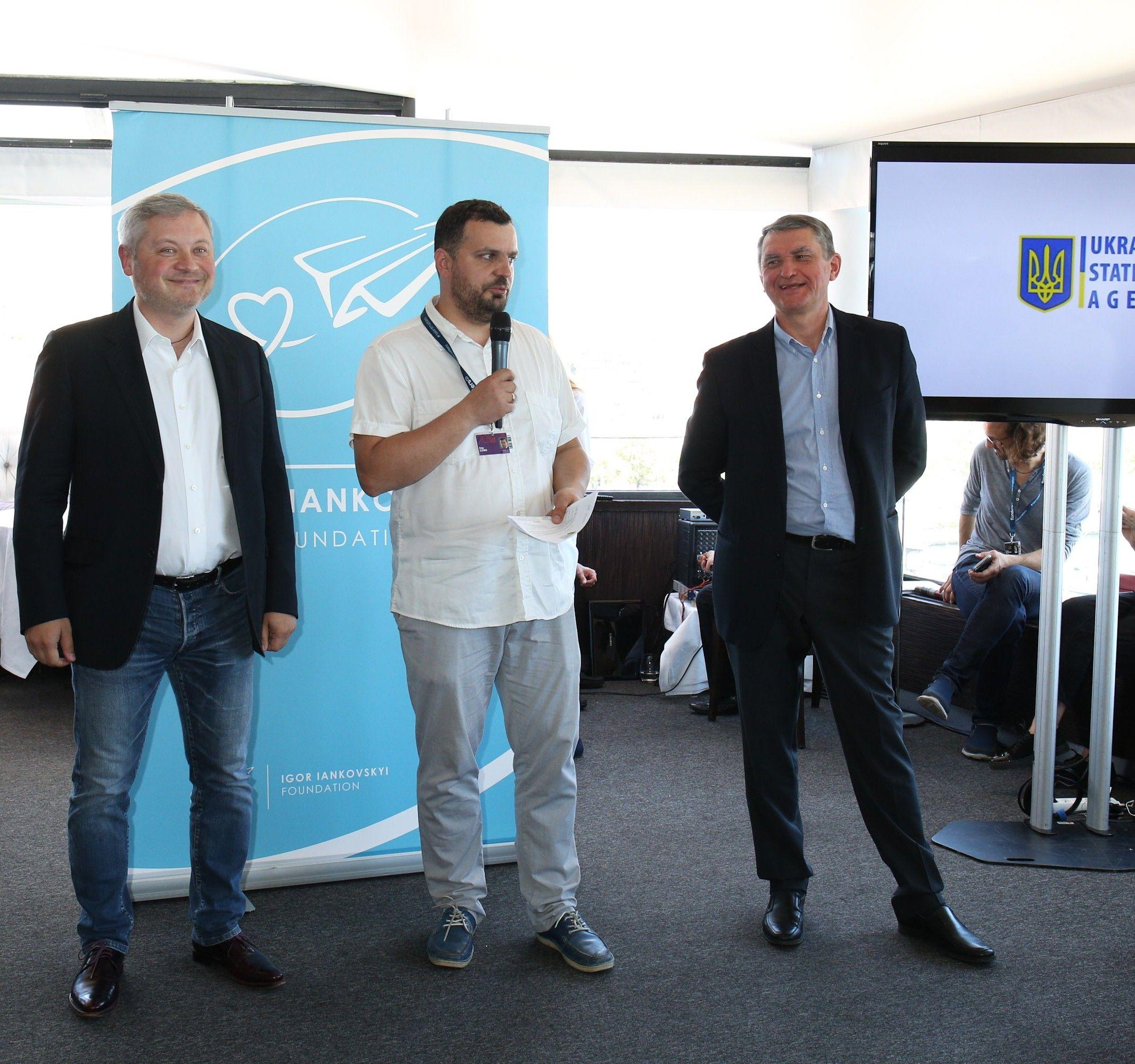 Игорь Янковский, Филипп Ильенко и посол Украины во Франции Олег Шамшур