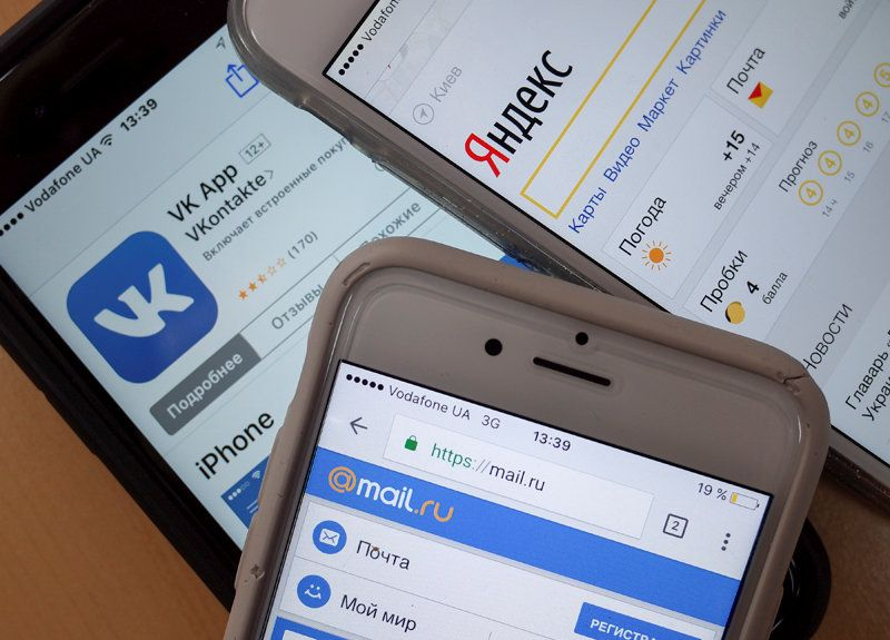 соцсети, Яндекс, Вконтакте, Одноклассники 2
