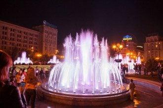 Фонтаны на столичном Майдане Независимости, иллюстрация