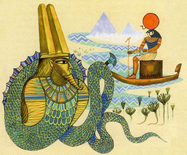 Змій — володар царства мертвих, володар антисвіту, головний символ Давнього Єгипту