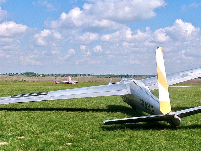 Планер взлетел с аэродрома