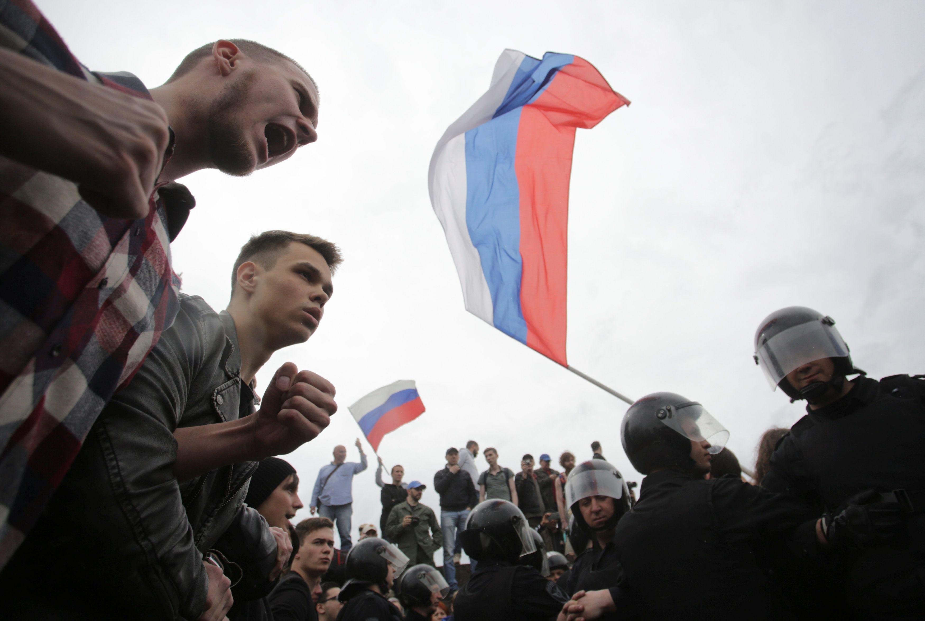 Протесты в России.