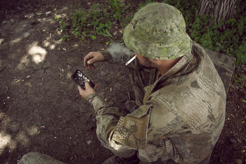 Воин ВСУ на Донбассе, иллюстрация.