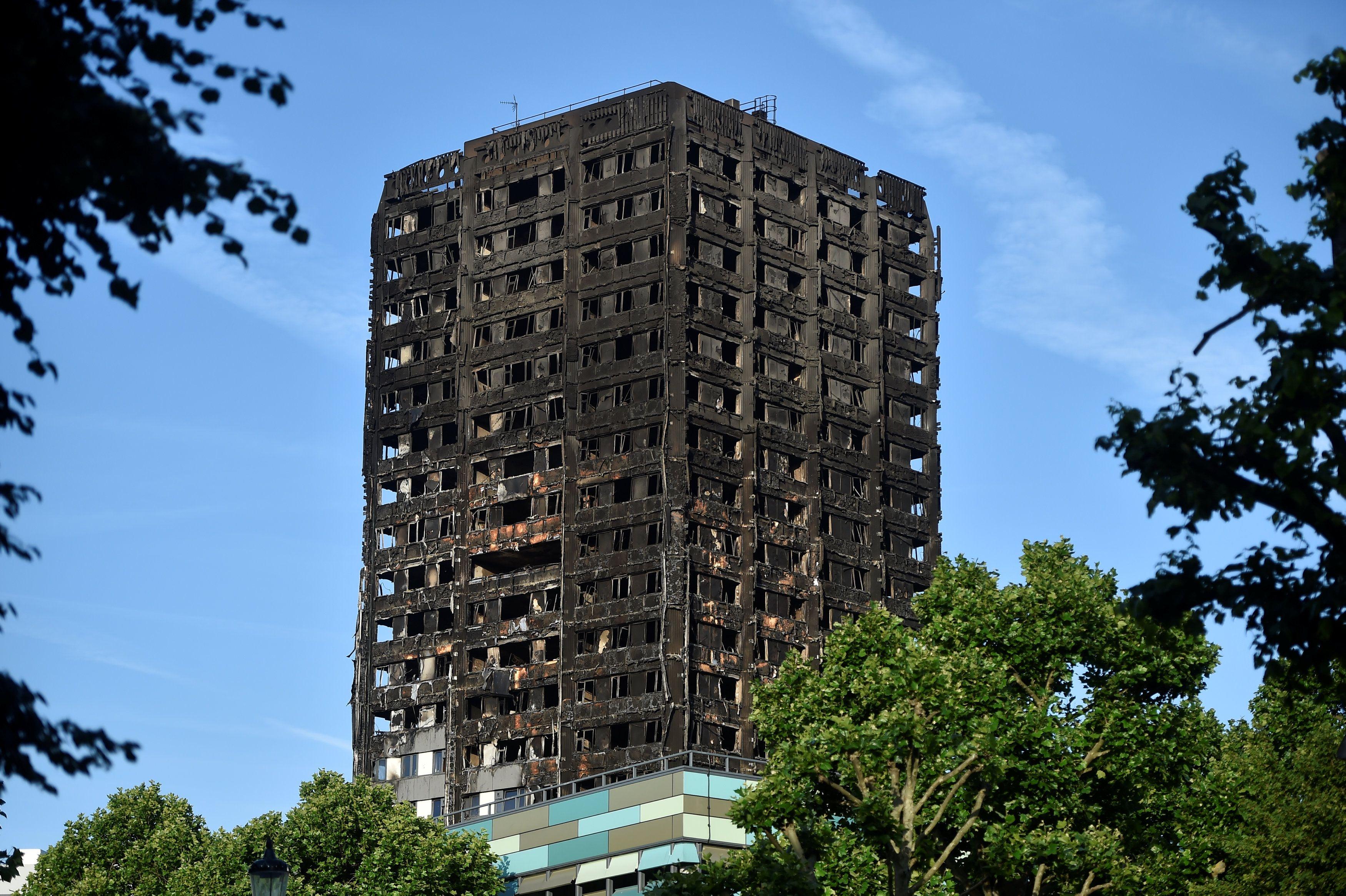Поврежденный пожаром Grenfell Tower