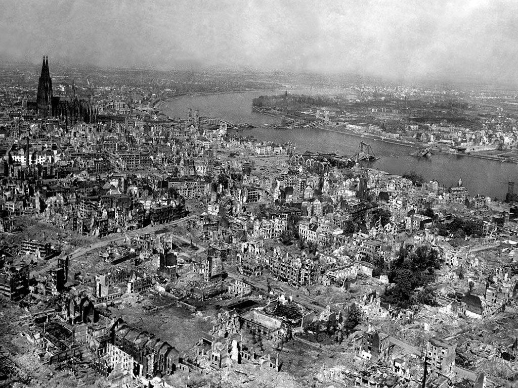 Дрезден после бомбардировок союзной авиации