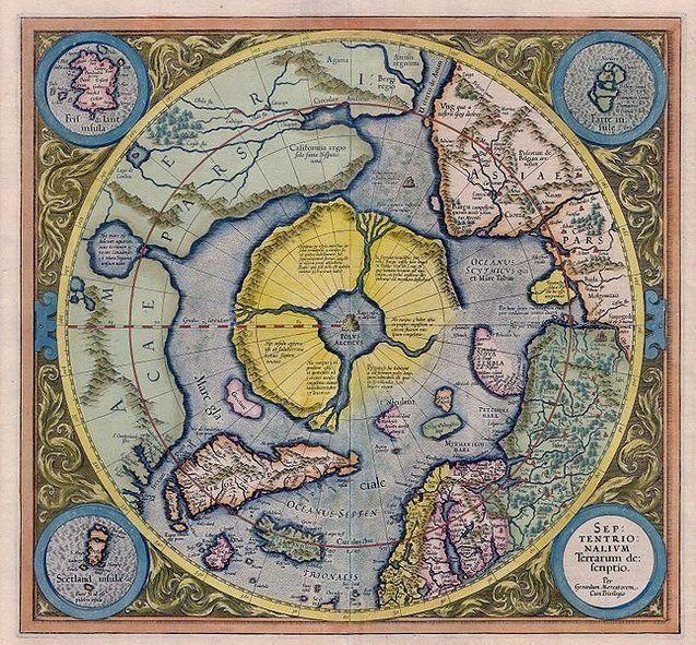 Арктида — арктичний континент на карті Герарда Меркатора 1595 року