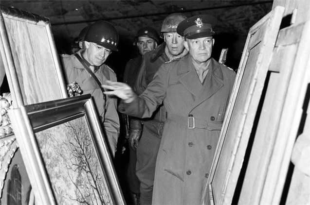 Огляд союзниками трофейних цінностей (Німеччина 1945 р.)