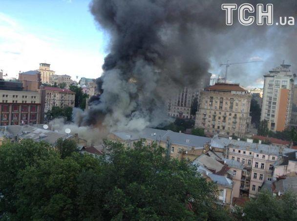 Пожарные локализовали возгорание на Крещатике