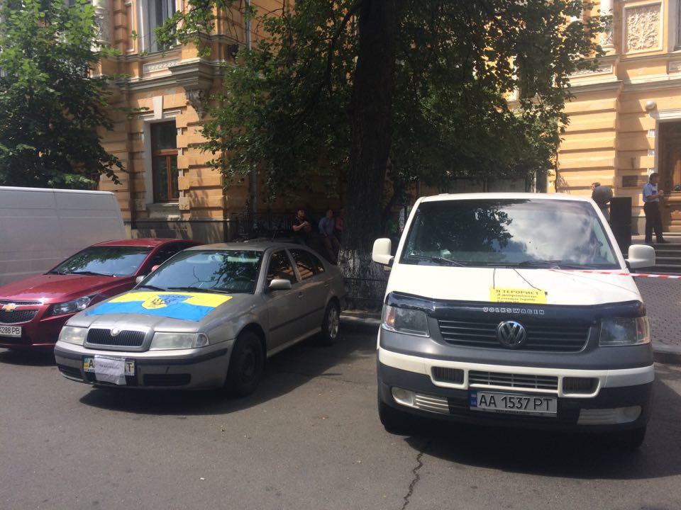 """Бойцы батальона """"Айдар"""" перекрыли Банковую, опубликованы фото"""