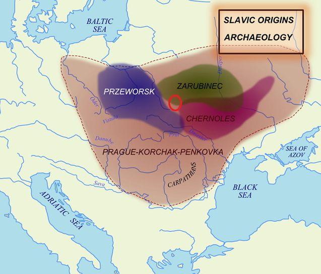Прабатьківщина слов'ян очима європейців