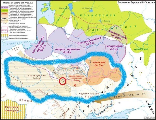 Слов'янські археологічні культури III-IV ст. н.е. за даними науки