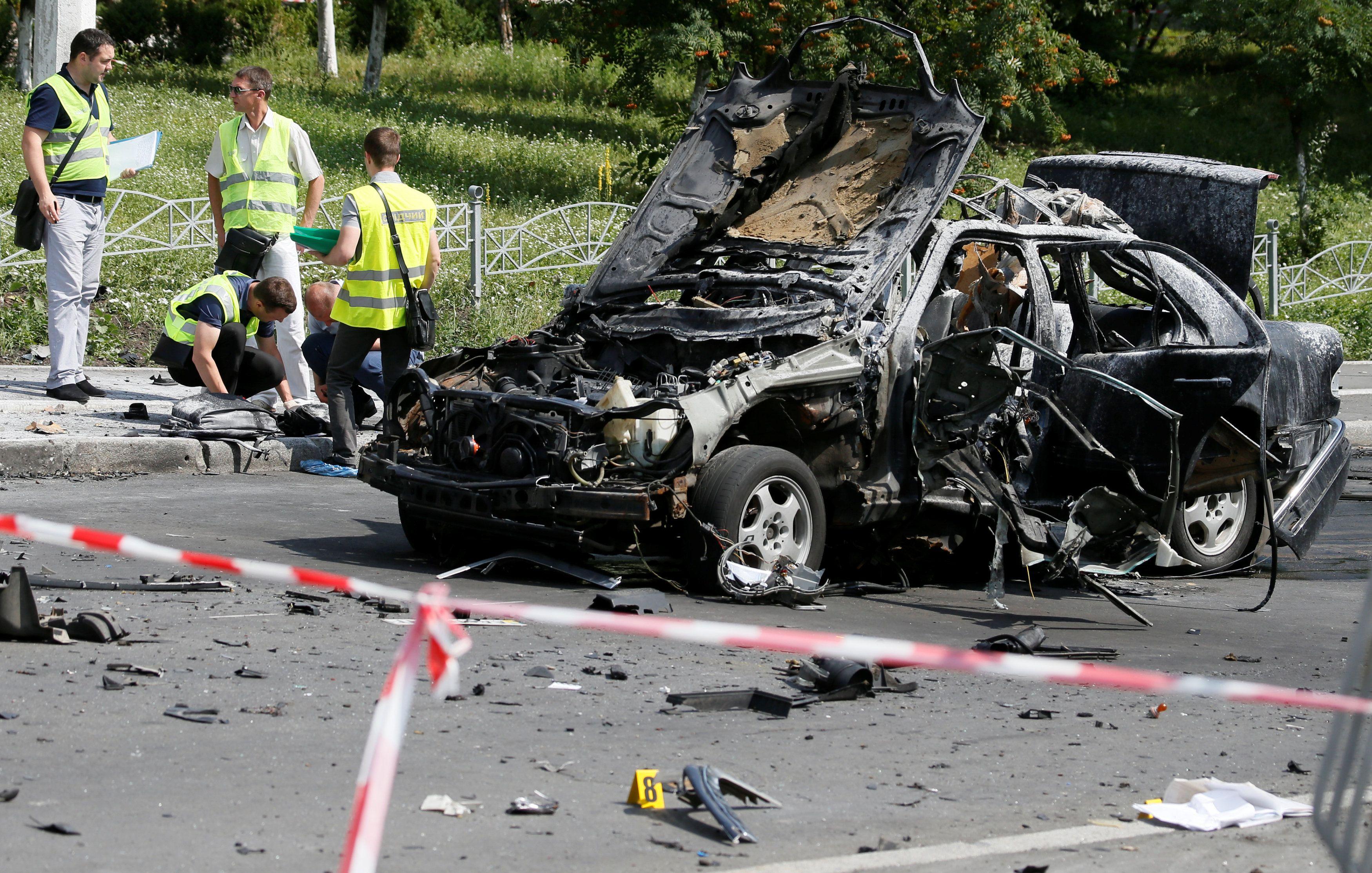 Взрыв авто Шаповала, иллюстрация