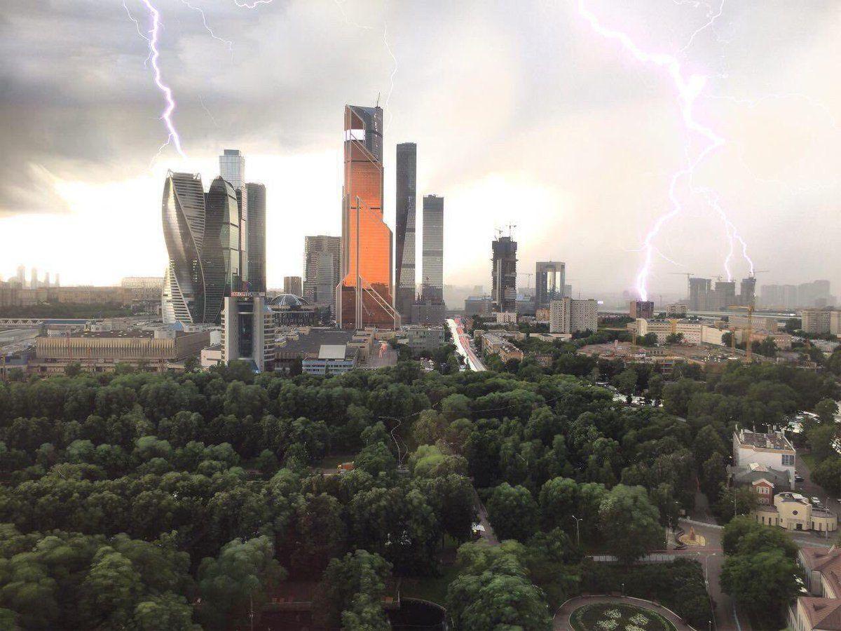 Непогода в Москве, иллюстрация