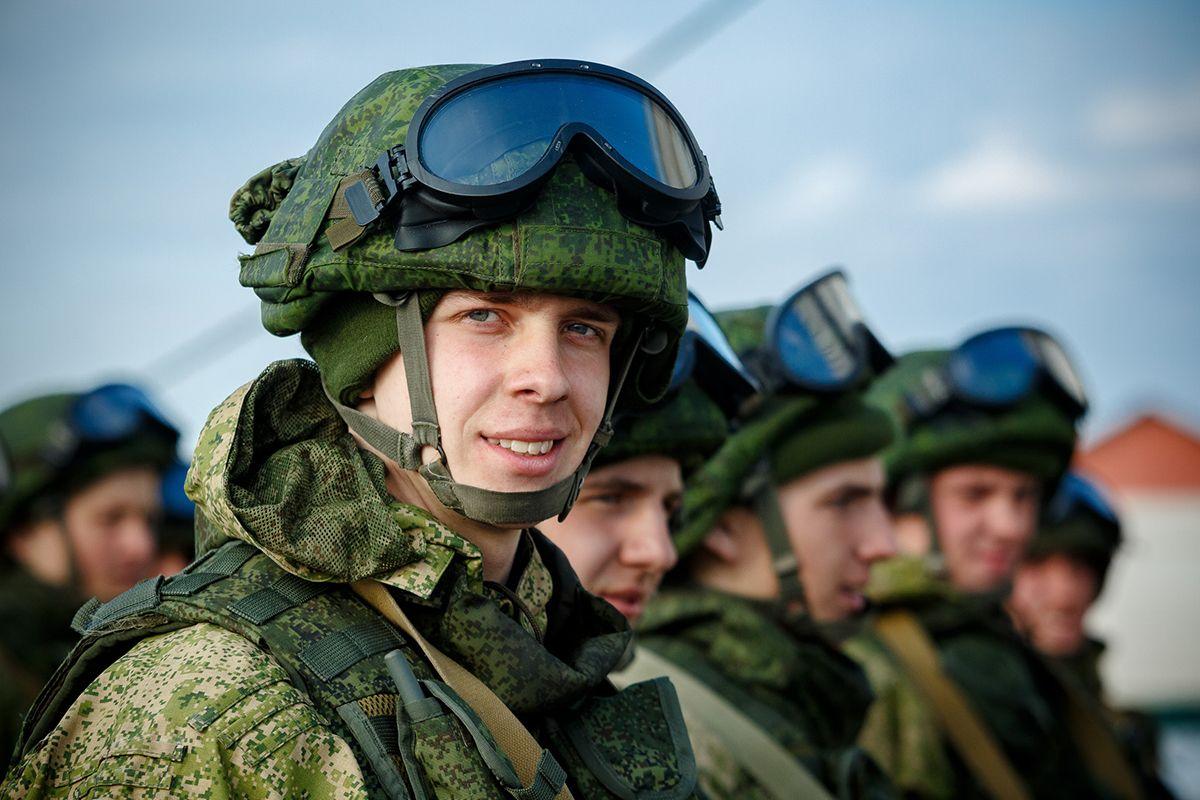 Российские военные, иллюстрация.