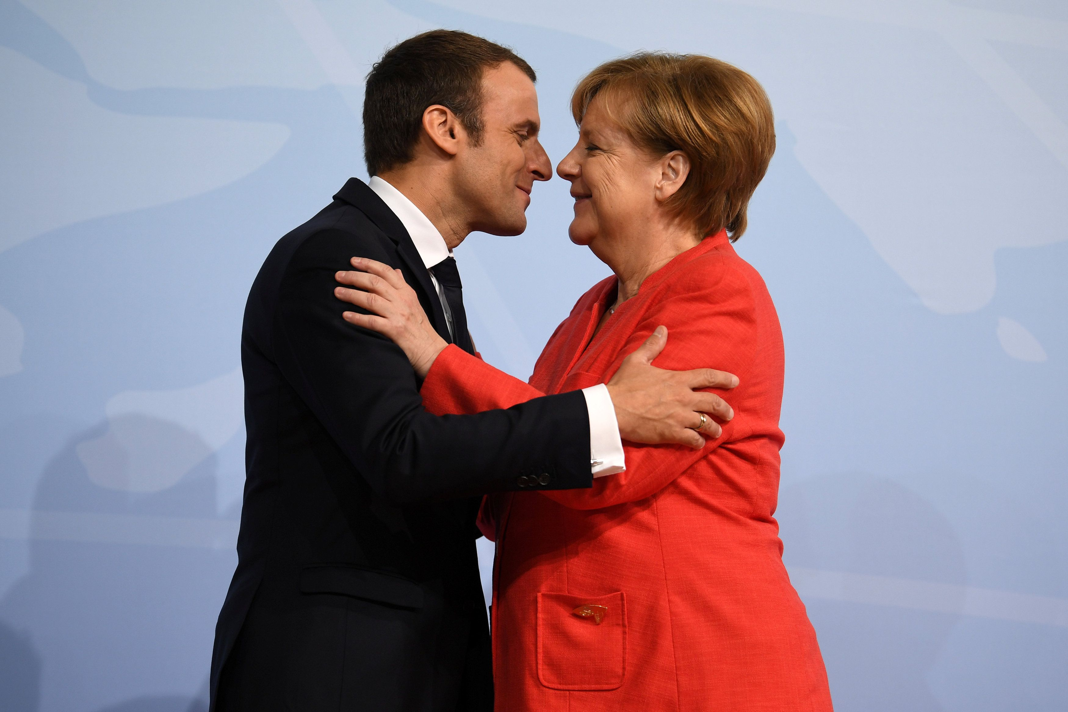 Ангела Меркель и президент Франции Эммануэль Макрон.