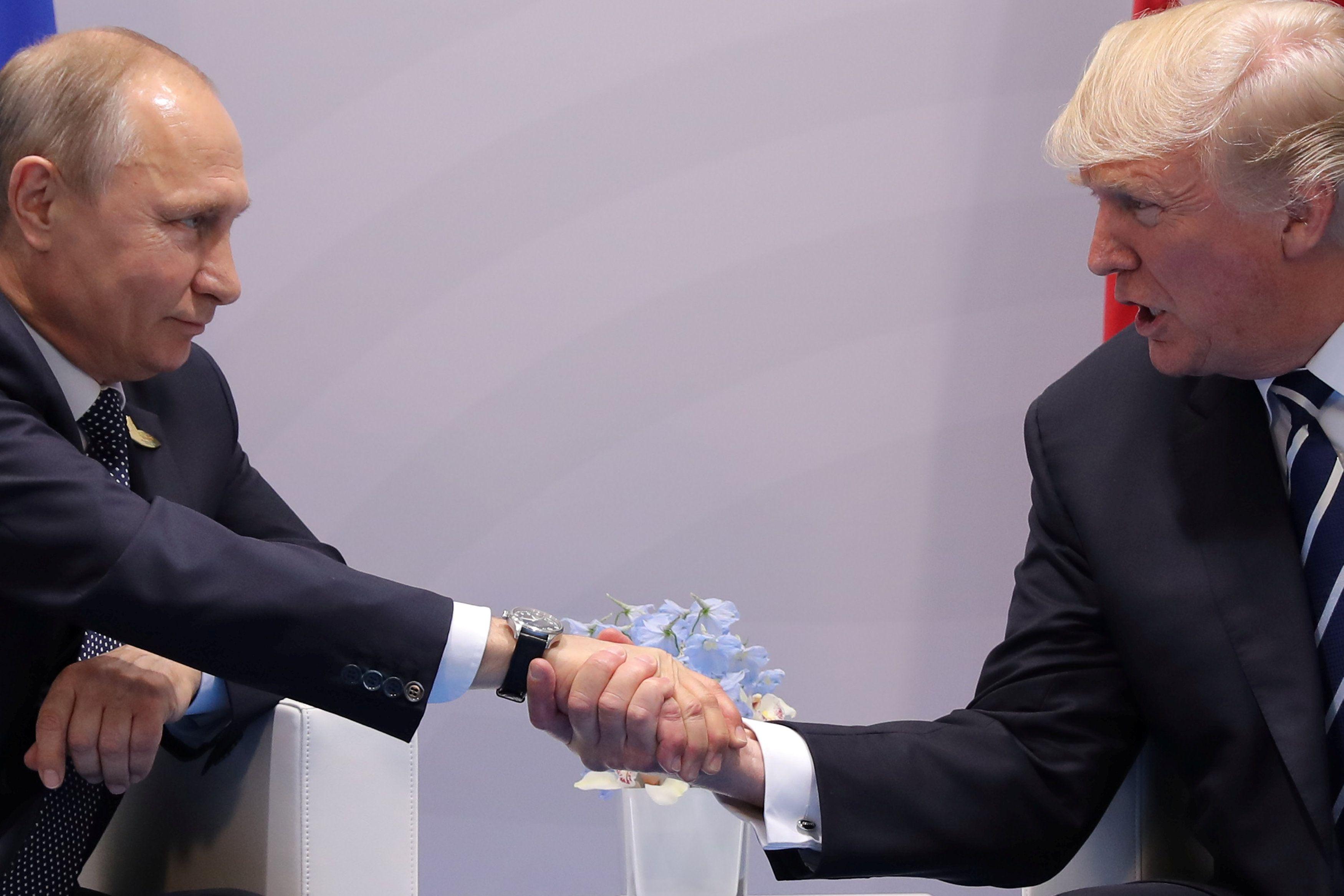 Встреча Владимира Путина и Дональда Трампа.