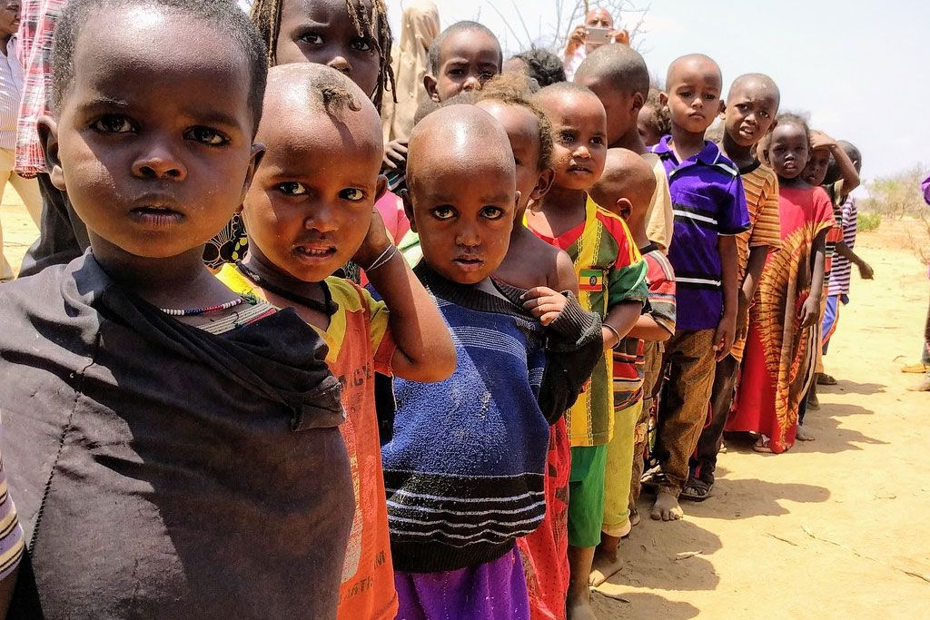 діти, Африка, голод