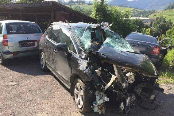 Водитель Peugeot не справился с управлением