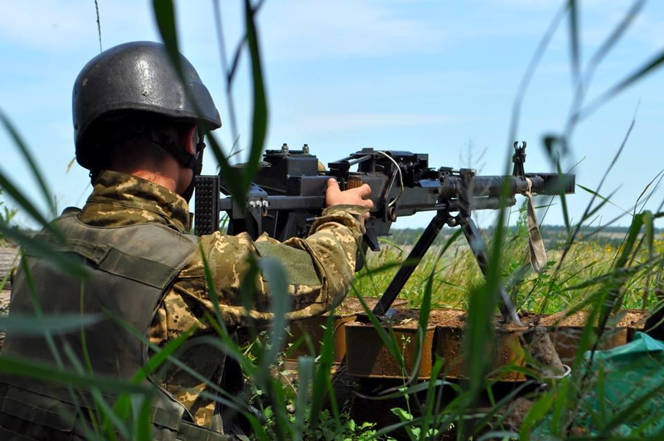 Позиции силовиков на Донбассе, иллюстрация.
