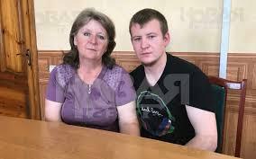 Виктор Агеев с матерью, иллюстрация.