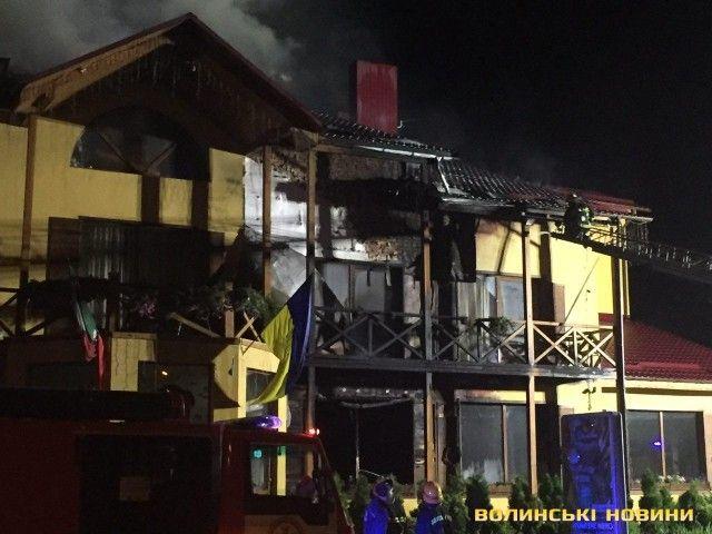 Пожар в ресторане Луцка.