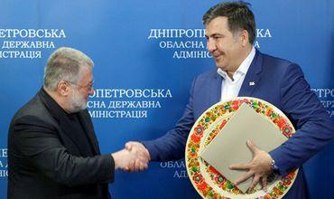 Михеила Саакашвили и Игорь Коломойский