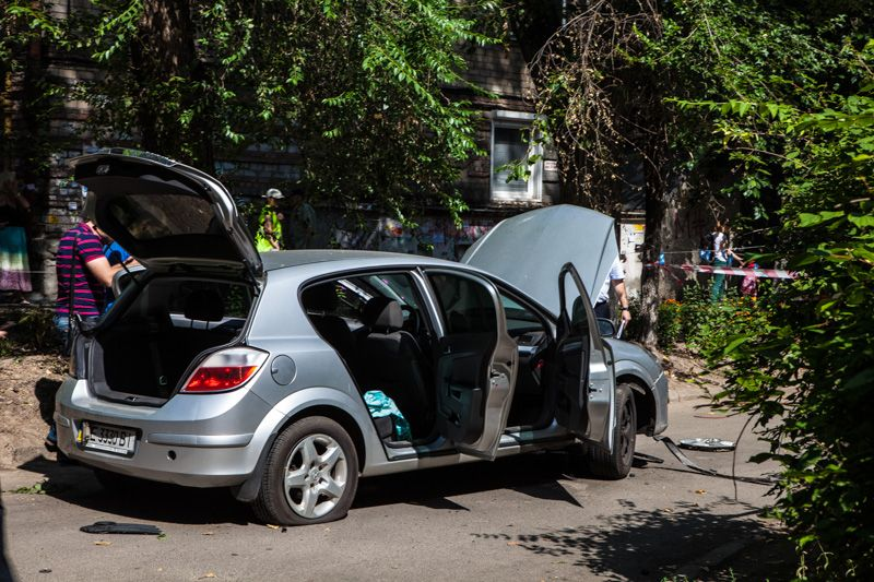 Взорванное авто в Днепре