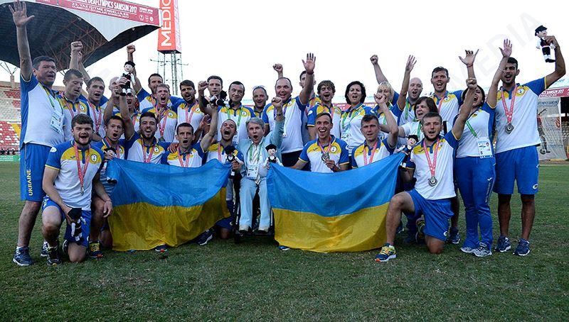 Украинские футболисты — участники Дефлимпиады-2017
